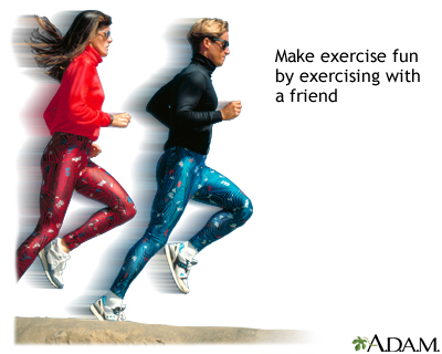 Exercise with friends